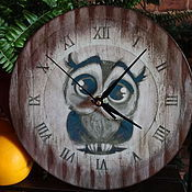 """Для дома и интерьера ручной работы. Ярмарка Мастеров - ручная работа Часы """"Совёнок"""". Handmade."""