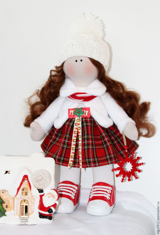 Коллекционные куклы ручной работы. Ярмарка Мастеров - ручная работа. Купить Зимняя девочка Аннушка. Handmade. Комбинированный, подарок девушке