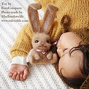 Куклы и игрушки ручной работы. Ярмарка Мастеров - ручная работа Валяная игрушка Зайка-Ангел. Handmade.