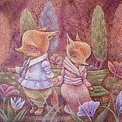 Картины и панно ручной работы. Ярмарка Мастеров - ручная работа Давай еще погуляем! Картина-принт лисята, вечерний сад, сказка.. Handmade.