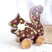 Куклы и игрушки ручной работы. Ярмарка Мастеров - ручная работа Деревянная игрушка Белочка. Handmade.