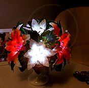 Для дома и интерьера handmade. Livemaster - original item Bouquet-lilies lamp