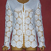 Одежда handmade. Livemaster - original item Knitted cardigan crochet