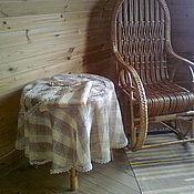 """Для дома и интерьера ручной работы. Ярмарка Мастеров - ручная работа """"Дачный"""" комплект изо льна. Handmade."""