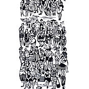 """Картины и панно ручной работы. Ярмарка Мастеров - ручная работа Гравюра """"День как день"""". Handmade."""