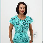 Одежда ручной работы. Ярмарка Мастеров - ручная работа Лазуревый цвет. Handmade.