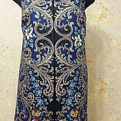 Одежда ручной работы. Ярмарка Мастеров - ручная работа Жилет из копии павловопосадского платка. Handmade.