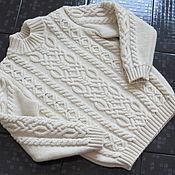 Работы для детей, ручной работы. Ярмарка Мастеров - ручная работа детский пуловер с косами. Handmade.