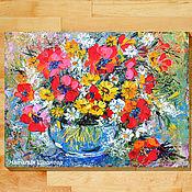 Картины и панно handmade. Livemaster - original item Oil painting poppies