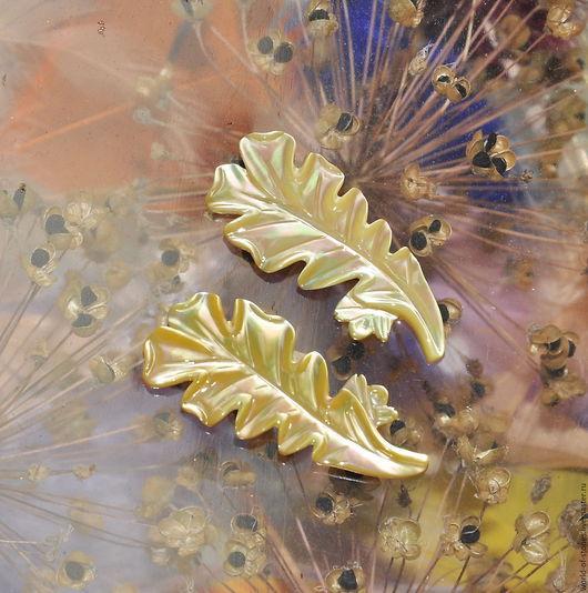 Для украшений ручной работы. Ярмарка Мастеров - ручная работа. Купить Цветы из перламутра №25 (пара). Handmade. Комбинированный