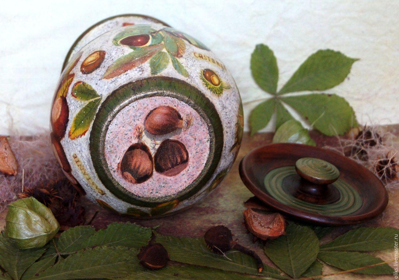 Керамическая крынка  Осенние  каштаны