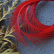 Материалы для творчества handmade. Livemaster - original item Decorative Feather Red 8-15 cm. Handmade.