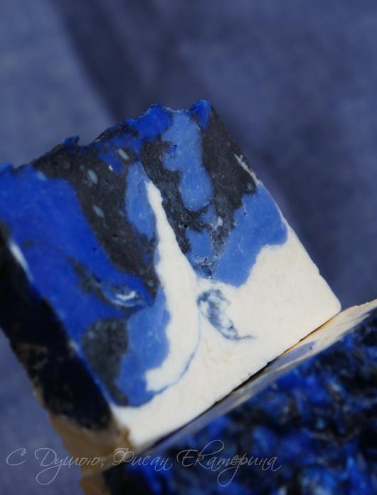 """Мыло ручной работы. Ярмарка Мастеров - ручная работа. Купить """"Тайна Голубой Пещеры"""". Натуральное мужское мыло с нуля. Handmade."""