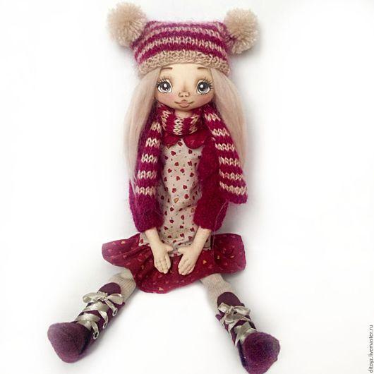 Коллекционные куклы ручной работы. Ярмарка Мастеров - ручная работа. Купить Кукла текстильная Вивьен, 40 см интерьерная кукла. Handmade.