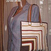 Классическая сумка ручной работы. Ярмарка Мастеров - ручная работа Стильная сумка. Handmade.
