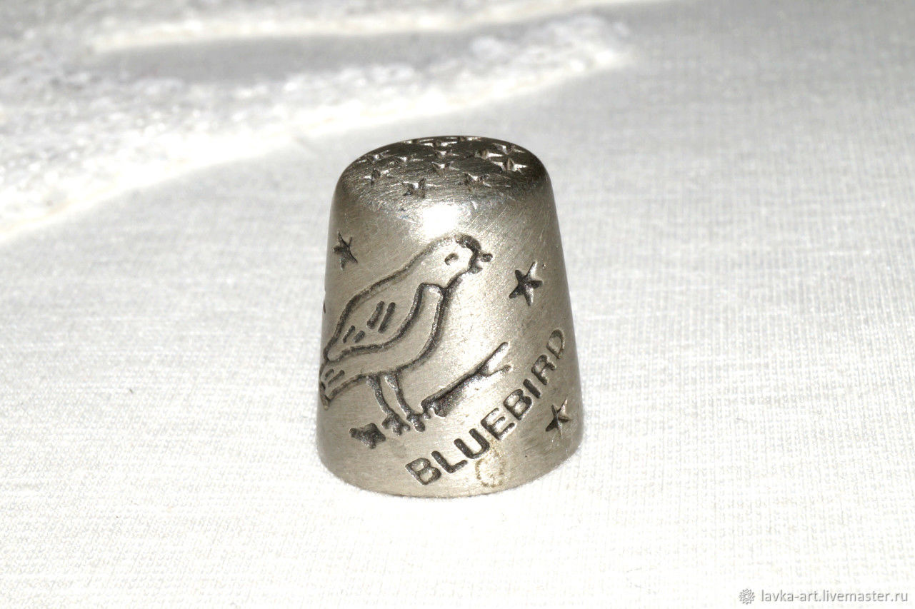 Винтаж: Винтажный наперсток Синяя птица, Винтажные сувениры, Чебоксары,  Фото №1