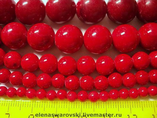 Для украшений ручной работы. Ярмарка Мастеров - ручная работа. Купить Коралл пресованный 4,6,8,10,12,14 мм.. Handmade.