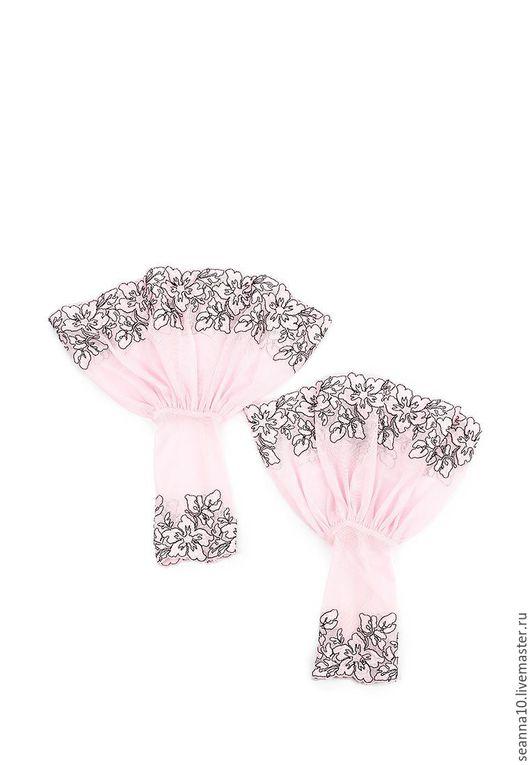 """Варежки, митенки, перчатки ручной работы. Ярмарка Мастеров - ручная работа. Купить Манжеты съемные кружевные """"Розовые цветы"""". Handmade."""
