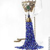 Necklace handmade. Livemaster - original item Long necklace with brush