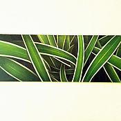 Картины и панно ручной работы. Ярмарка Мастеров - ручная работа Свежие листья. Handmade.