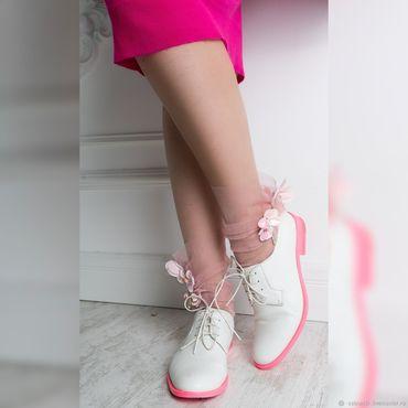 """Украшения ручной работы. Ярмарка Мастеров - ручная работа Носки """"pink flower"""". Handmade."""