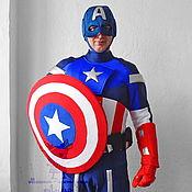 Одежда handmade. Livemaster - original item Captain America. Scenic suit/Cosplay/Carnival costume. Handmade.