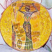 Посуда ручной работы. Ярмарка Мастеров - ручная работа Египет тарелка. Handmade.