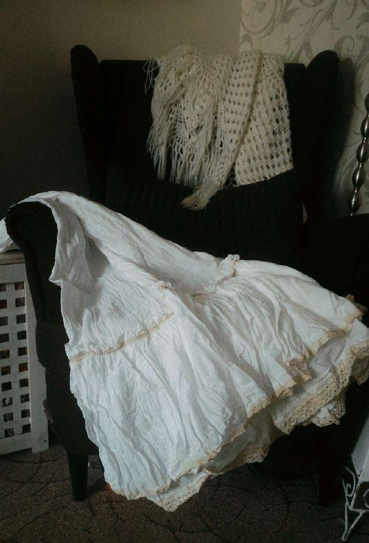 Юбки ручной работы. Ярмарка Мастеров - ручная работа. Купить Нижняя бохо юбка  с хлопковым кружевом. Handmade. Белый