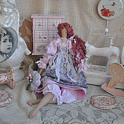 """Куклы и игрушки ручной работы. Ярмарка Мастеров - ручная работа Кукла в стиле Тильда """"Соловей и роза"""". Handmade."""