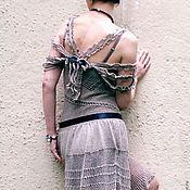Одежда ручной работы. Ярмарка Мастеров - ручная работа Ажурное платье вязаное. Handmade.