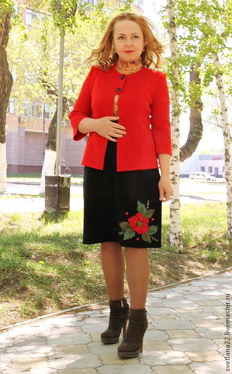 "Knitted suit ""Fiery flower"", Suits, Pavlodar,  Фото №1"