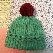 Аксессуары ручной работы. Ярмарка Мастеров - ручная работа Вязания шапка с помпоном. Handmade.