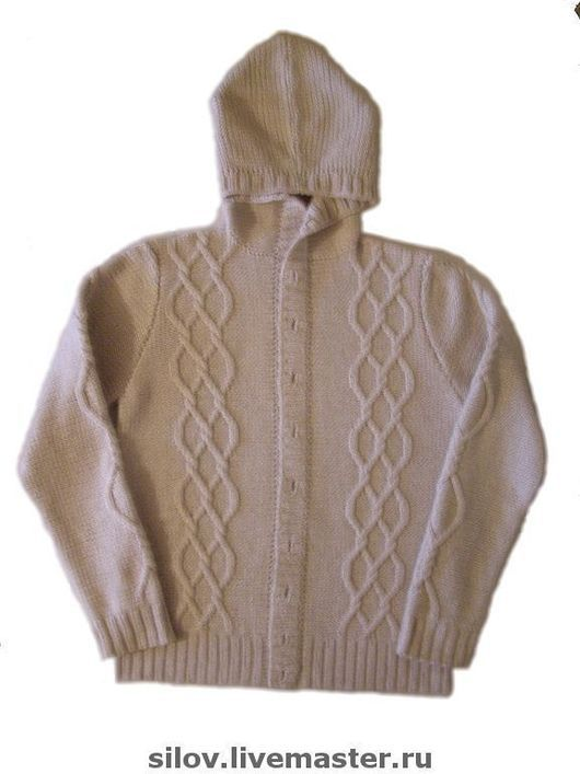 For Men handmade. Livemaster - handmade. Buy Knitted classic cardigan with braids.Men's cardigan, knitted cardigan, grey