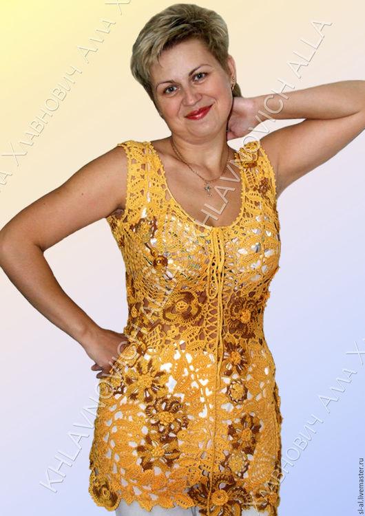 """Блузки ручной работы. Ярмарка Мастеров - ручная работа. Купить Блуза """"Солнечный зайчик"""" Модель №174. Handmade. Комбинированный"""