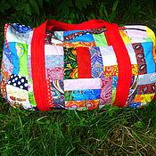 """Лоскутная сумка для путешествий """"Лето красное"""". Большая дорожная сумка"""