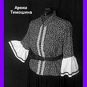 Одежда ручной работы. Ярмарка Мастеров - ручная работа Блуза-Рубашка Вискоза - 308. Handmade.