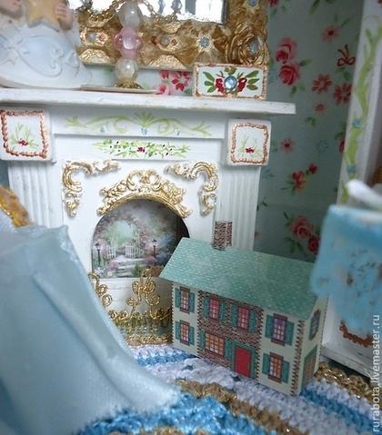 """Кукольный дом ручной работы. Ярмарка Мастеров - ручная работа. Купить """"Где живет Алиса..."""" (румбокс, кукольный дом). Handmade."""