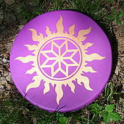 Музыкальные инструменты handmade. Livemaster - original item Alatyr. Vedic tambourine 40 cm.. Handmade.