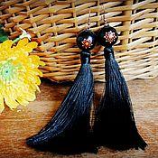 Украшения handmade. Livemaster - original item Earrings hand painted bead. Handmade.