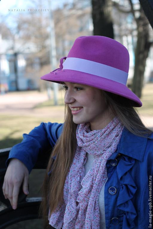 """Шляпы ручной работы. Ярмарка Мастеров - ручная работа. Купить Весенняя шляпа """"Mars"""" (Март). Handmade. Розовый, шляпа федора"""