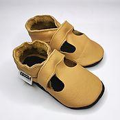 Одежда детская handmade. Livemaster - original item Baby Moccasins, Toddler Unisex shoes, Soft Sole Sandals. Handmade.