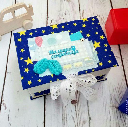 """Подарки для новорожденных, ручной работы. Ярмарка Мастеров - ручная работа. Купить Мамины сокровища """"Комодик"""". Handmade. Тёмно-синий"""