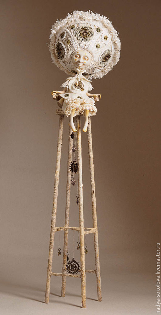 Коллекционные куклы ручной работы. Ярмарка Мастеров - ручная работа. Купить Солнце. Handmade. Белый, звезды, дерево