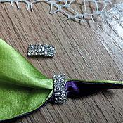 Материалы для творчества handmade. Livemaster - original item !Scrapbooking. Decor-the buckle,brooch, DIAMOND semicircle. Handmade.