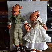 Куклы и игрушки ручной работы. Ярмарка Мастеров - ручная работа Свадебные тигры. Handmade.