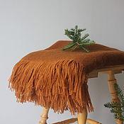 Для дома и интерьера ручной работы. Ярмарка Мастеров - ручная работа Шерстяной плед рыжий. Handmade.