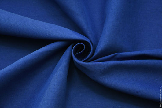 Шитье ручной работы. Ярмарка Мастеров - ручная работа. Купить Ткань льняная синяя арт.00637Н. Handmade. Лён натуральный