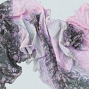 Аксессуары ручной работы. Ярмарка Мастеров - ручная работа Валяный шарф Сакура. Handmade.