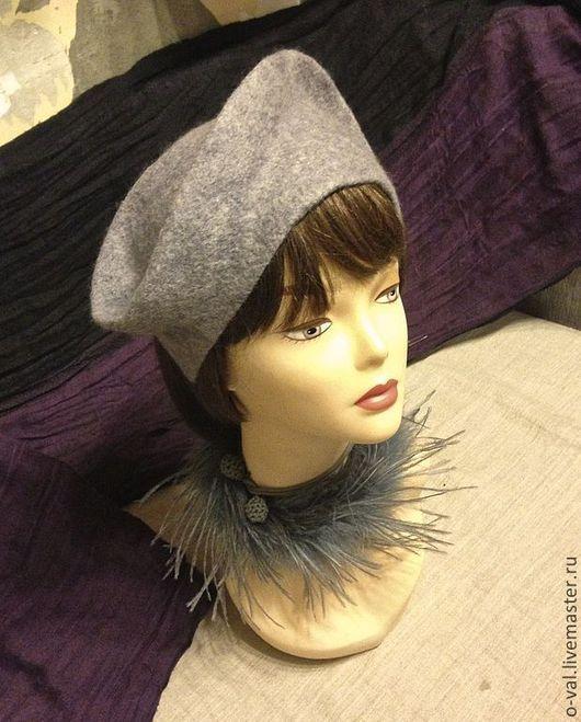Шляпы ручной работы. Ярмарка Мастеров - ручная работа. Купить УТРО ТУМАННОЕ. Handmade. Серый, шляпка