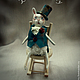 """Коллекционные куклы ручной работы. Ярмарка Мастеров - ручная работа. Купить Белый кролик из """"Алисы в стране чудес"""". Авторская кукла.. Handmade."""